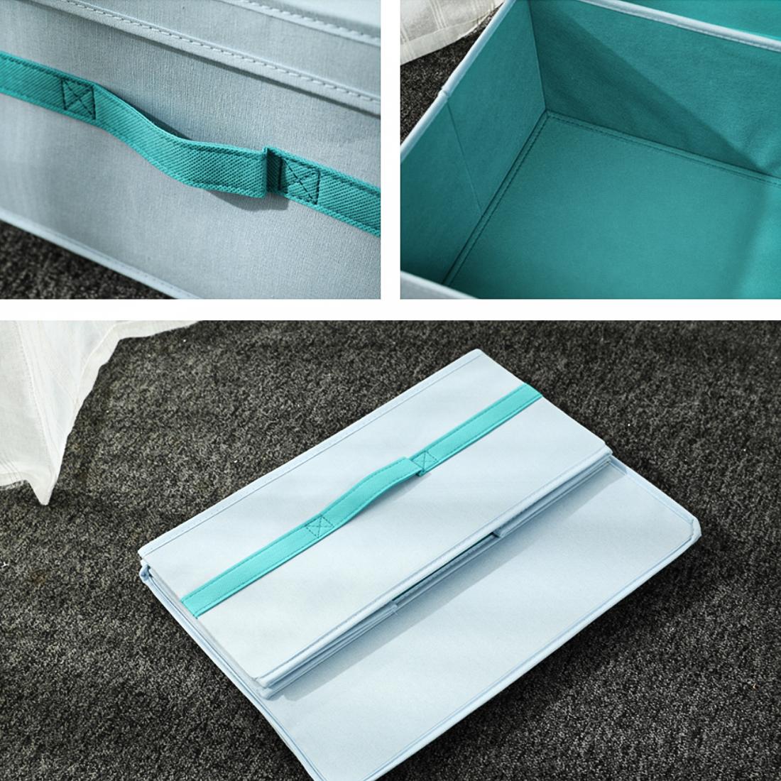 Thùng đựng đồ kèm nắp size trung, xanh Miniso Storage Box with Lid- Medium(blue)